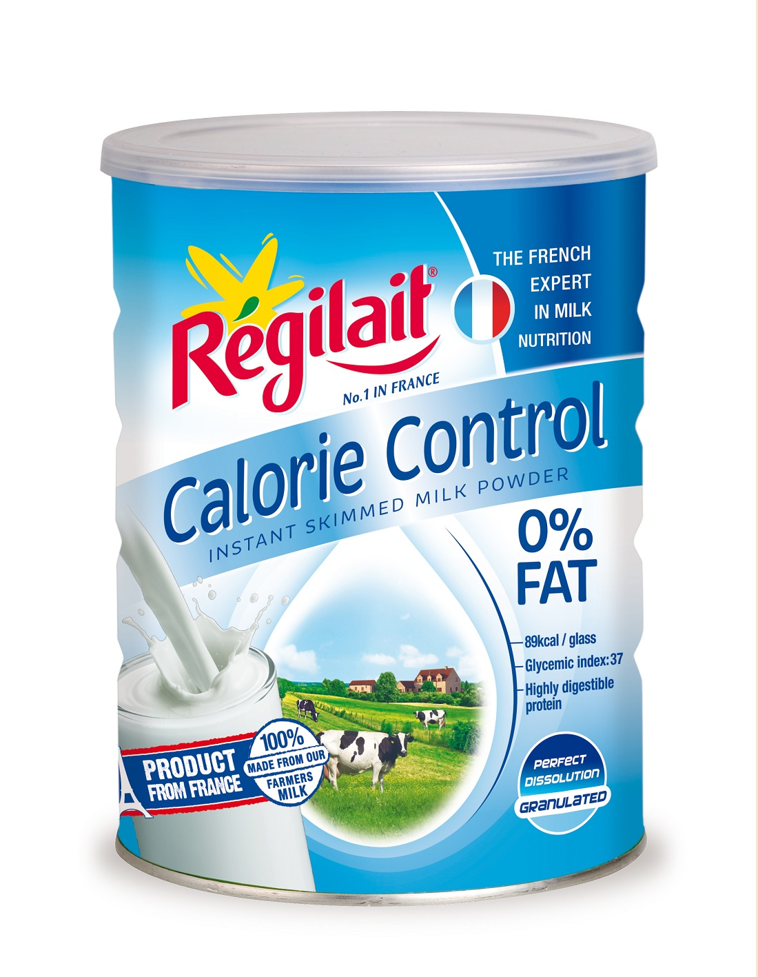 Regilait calorie control 700 Gr: kiểm soát Calorie, 0% chất béo, dùng cho người trưởng thành