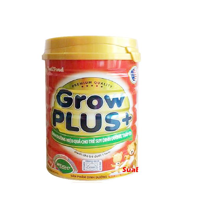 NutiFood Grow plus+ đỏ 780 gr : Sữa cho trẻ từ sơ sinh đến 12 tháng tuổi, bị suy dinh dưỡng thấp còi thể nặng