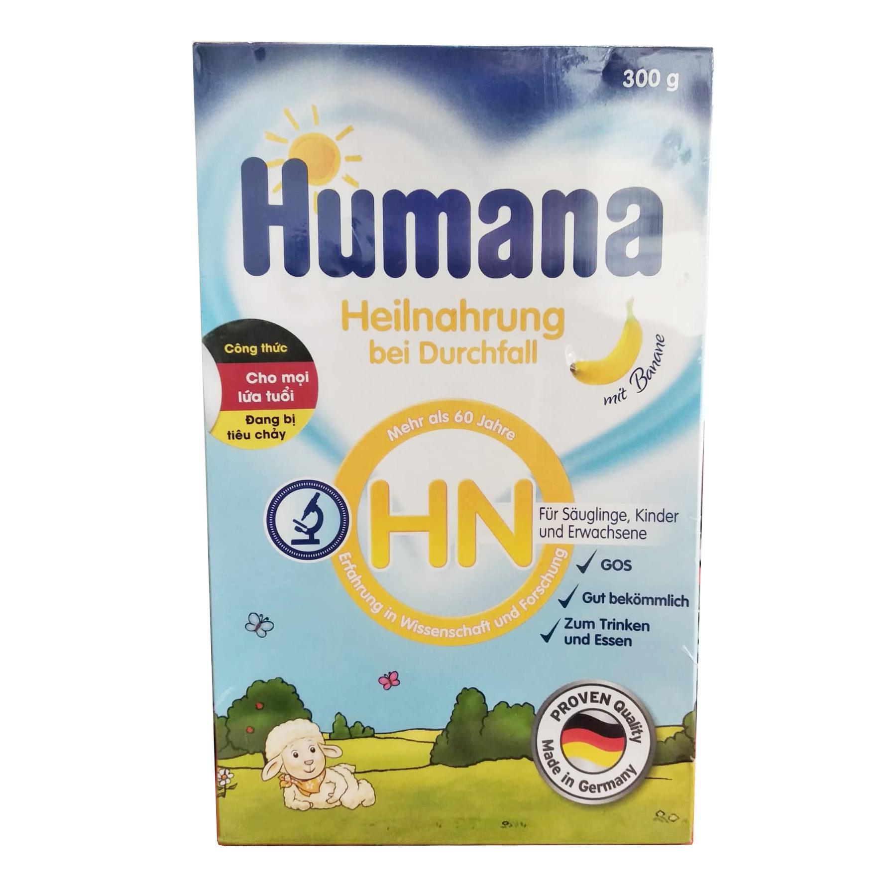 Sữa Humana HN 300 Gr : sữa dành cho trẻ tiêu chảy từ sơ sinh