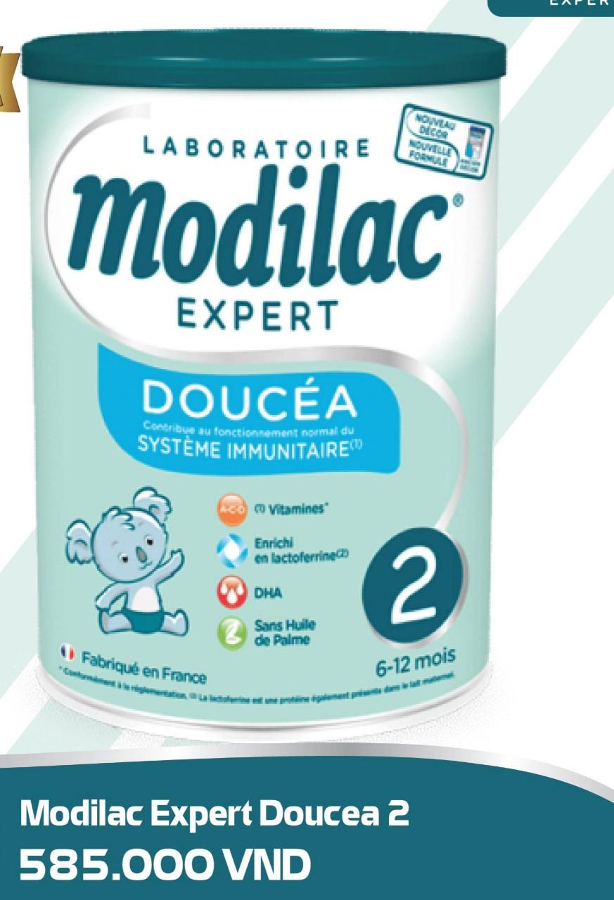 Modilac Expert Doucéa 2 800 Gr : Sữa tăng trưởng và phát triển cho trẻ từ 6- 12 tháng
