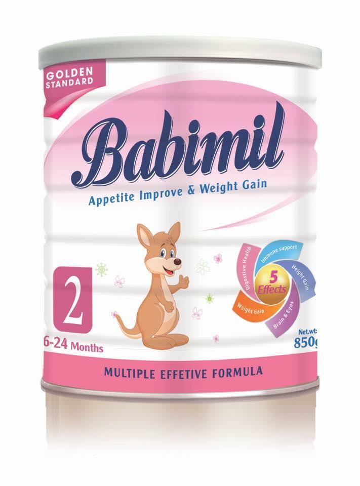 Babimil sô 2 360 Gr : Sữa cho trẻ ốm yếu, biếng ăn , suy dinh dưỡng từ 6- 24 tháng tuổi