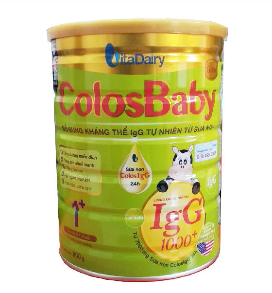 Sữa bột VitaDairy ColosBaby Gold 1+ 800g