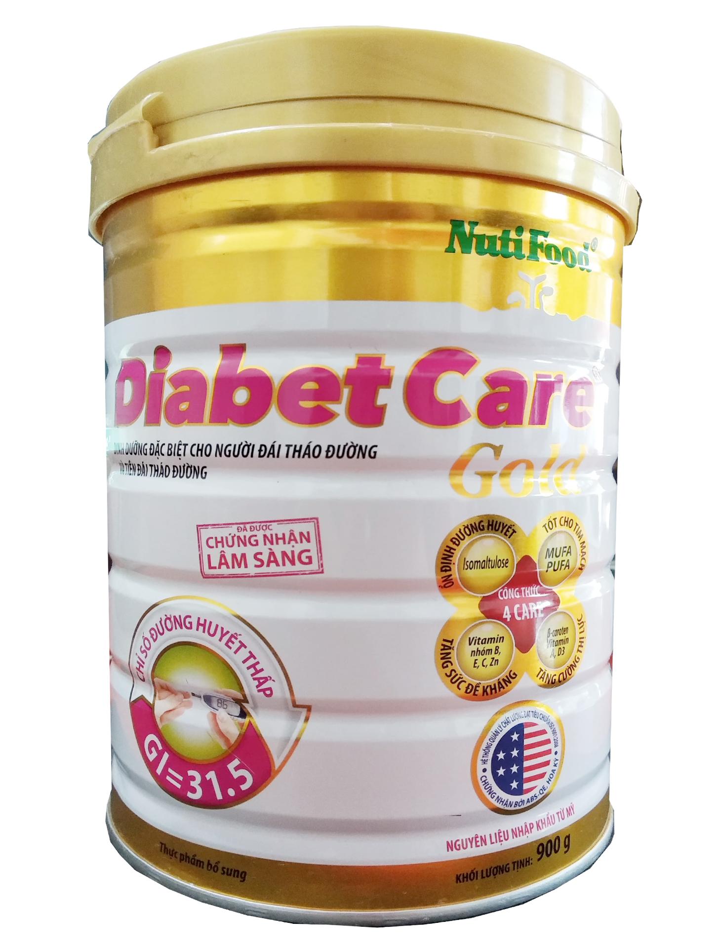 Nutifood DiabetCare Gold 900 Gr: dinh dưỡng hàng ngày cho người bị bệnh tiểu đường, đái tháo đường.