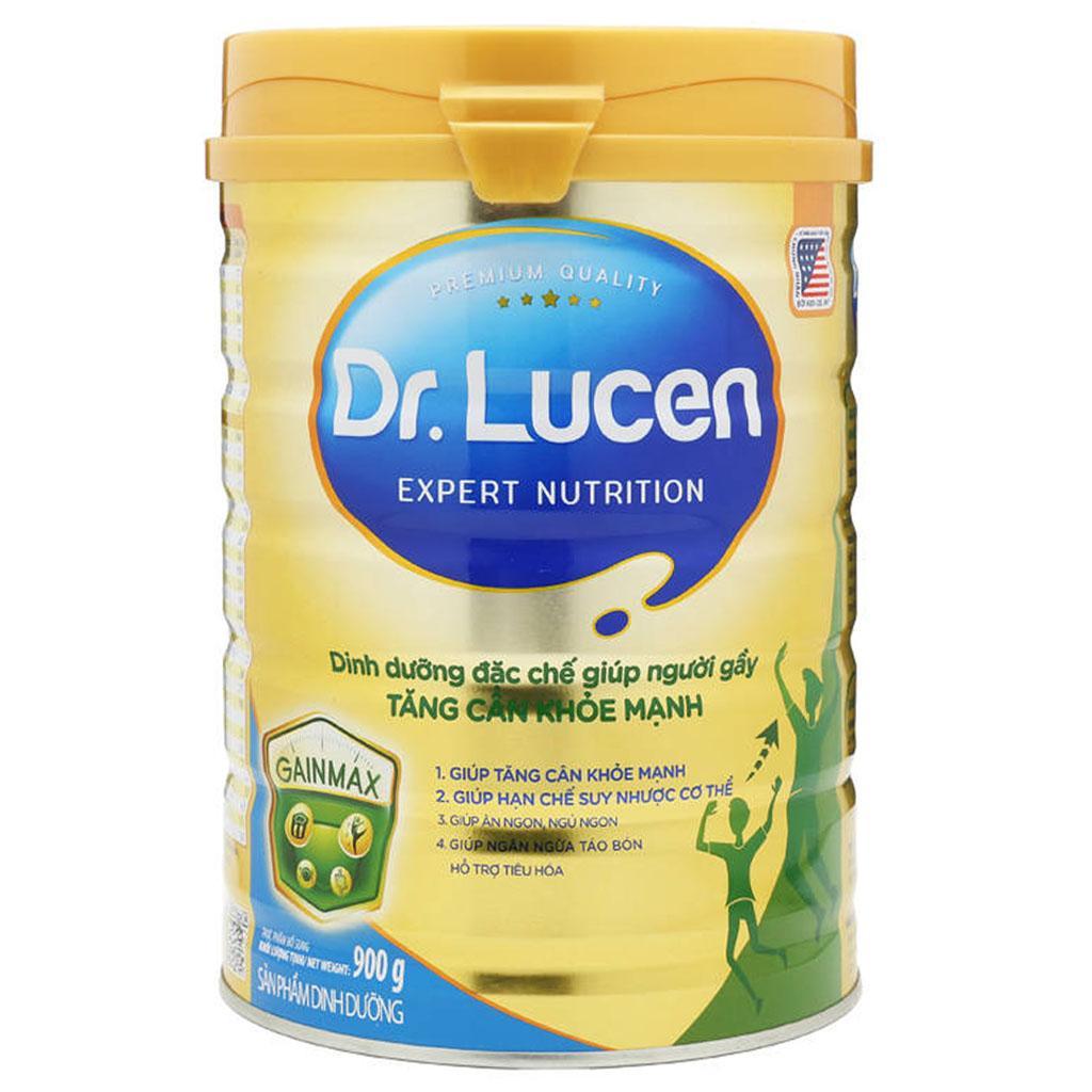 DR. Lucen Gain Max 900 Gr : dinh dưỡng đặc chế cho người gầy, giúp tăng cân khỏe mạnh, dùng cho người trưởng thành