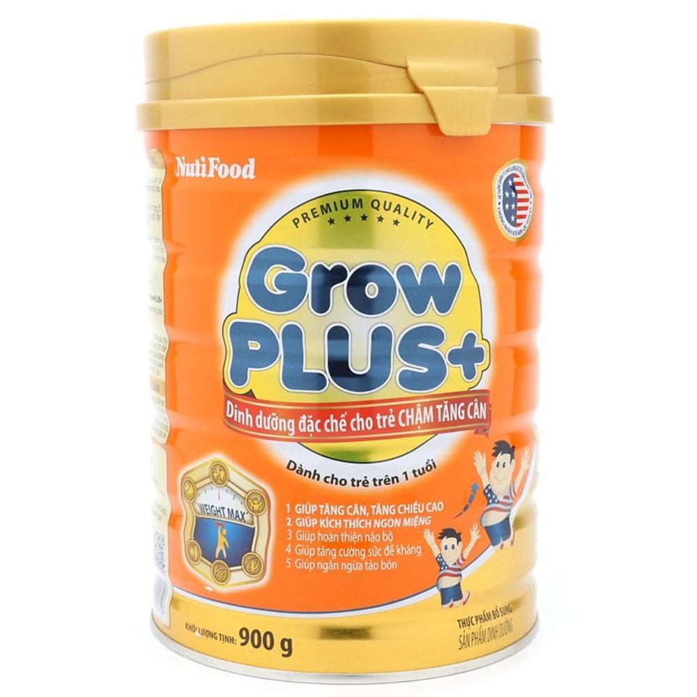 NutiFood Grow Plus + 900 Gr : Dinh dưỡng đặc chế cho trẻ chậm tăng cân từ 12 tháng tuổi