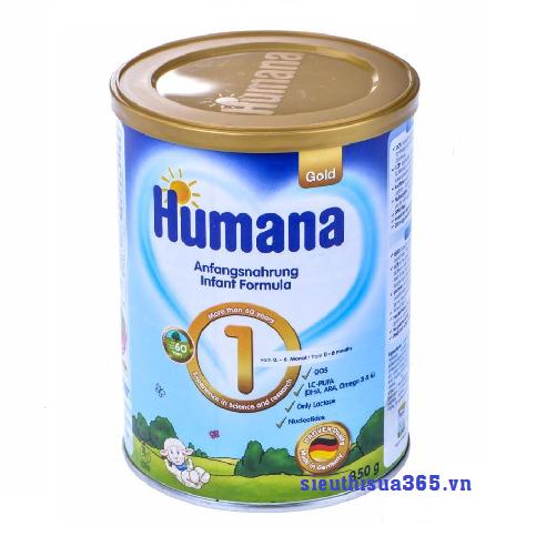Sữa Humana Gold 1 800 g: sữa công thức cho bé từ 0-6 tháng tuổi