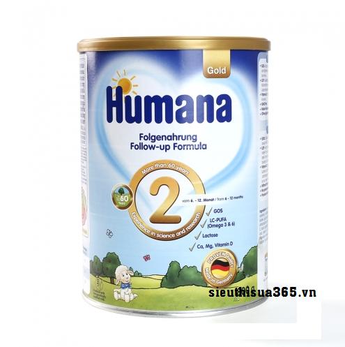 Sữa Humana Gold 2 800 g : sữa tăng trưởng cho bé từ 6-12 tháng tuổi