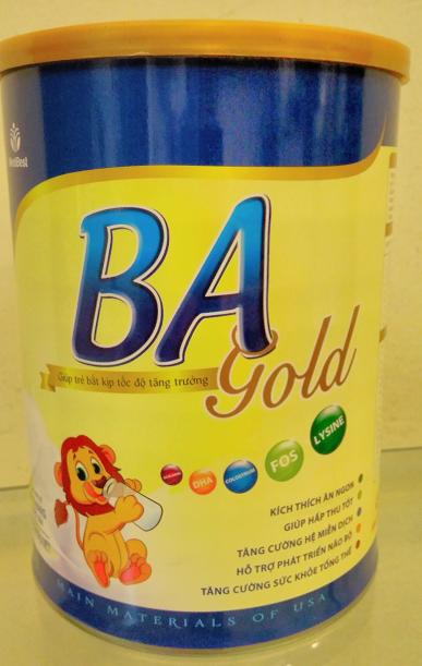 Sữa BA Gold Medibest 400 Gr: Sữa công thức cho trẻ biếng ăn, suy dinh dưỡng từ 6 tháng tuổi trở lên