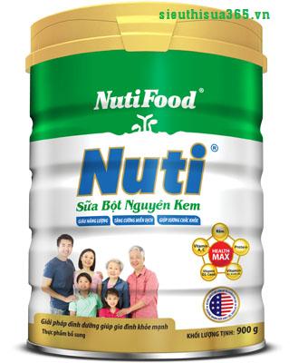 Nuti - sữa bột nguyên kem của NutiFood