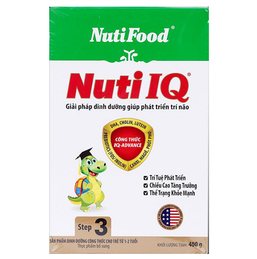 Sữa Nuti IQ step 3 400g hộp giấy