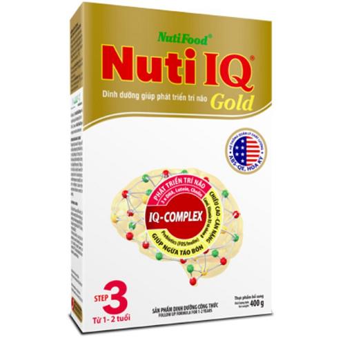 Sữa NutiIQ gold step 3 400g ộp giấy