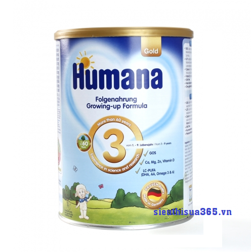 Sữa Humana Gold 3 dành cho trẻ từ 1-10 tuổi