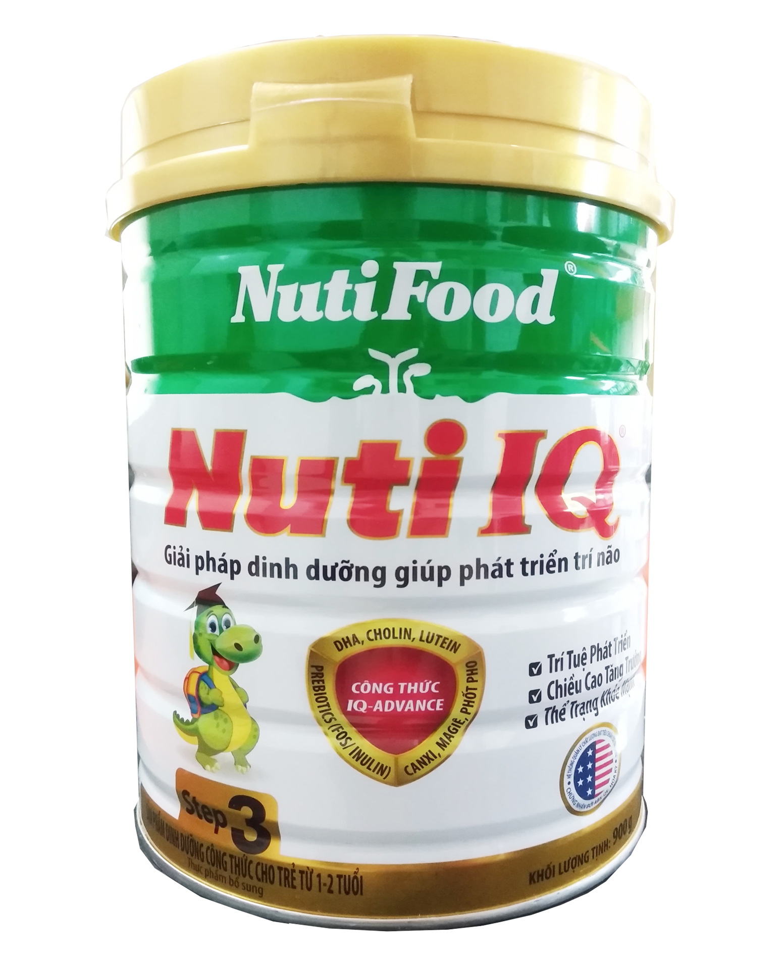 NUTI IQ STEP 3 900 gr : sữa tăng trưởng cho trẻ 1-2 tuổi với công thức IQ-Advance