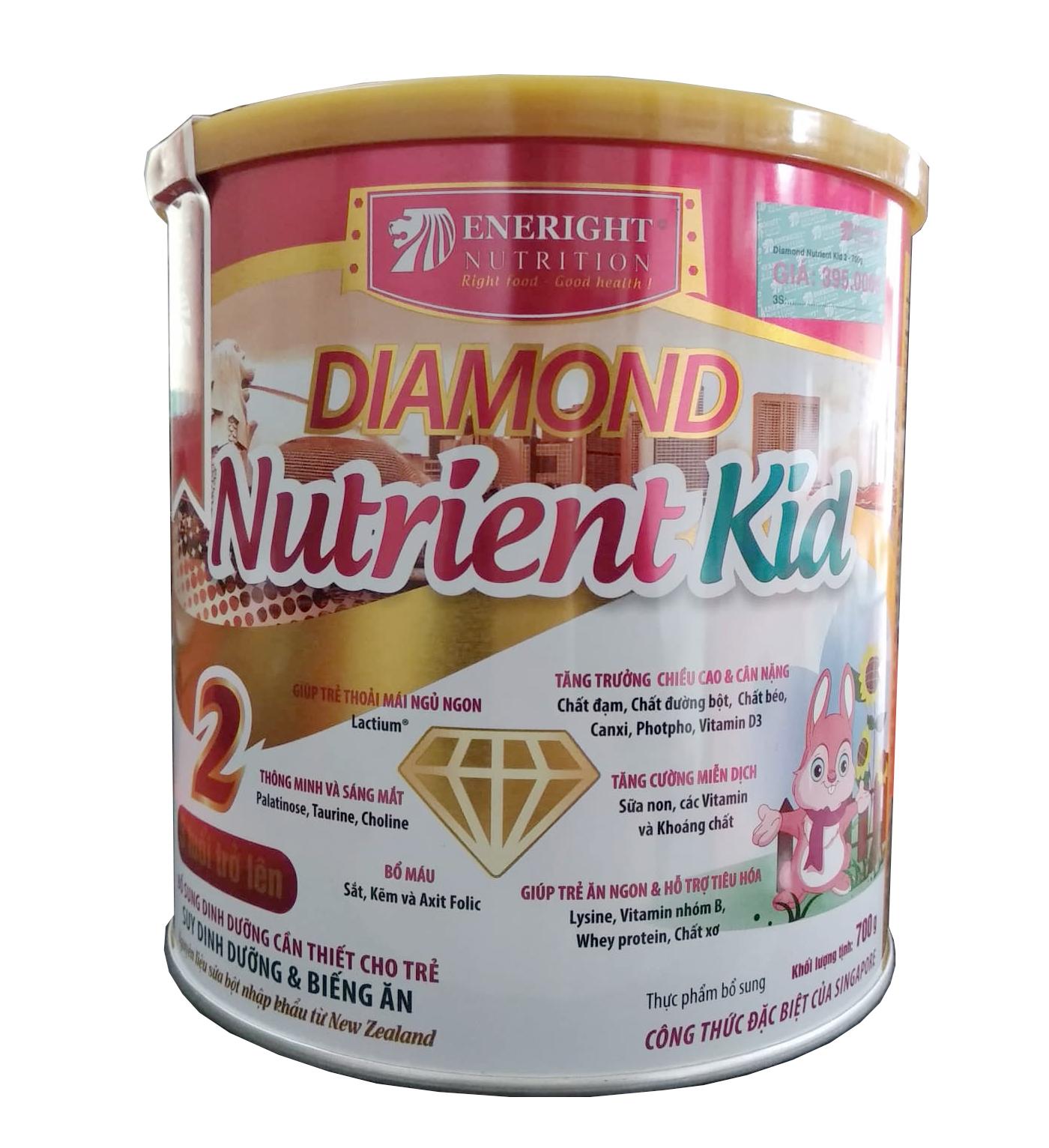 Diamond Nutrient Kid số 2 700g : sữa cho trẻ suy dinh dưỡng, thấp còi từ 36 tháng tuôi trở lên