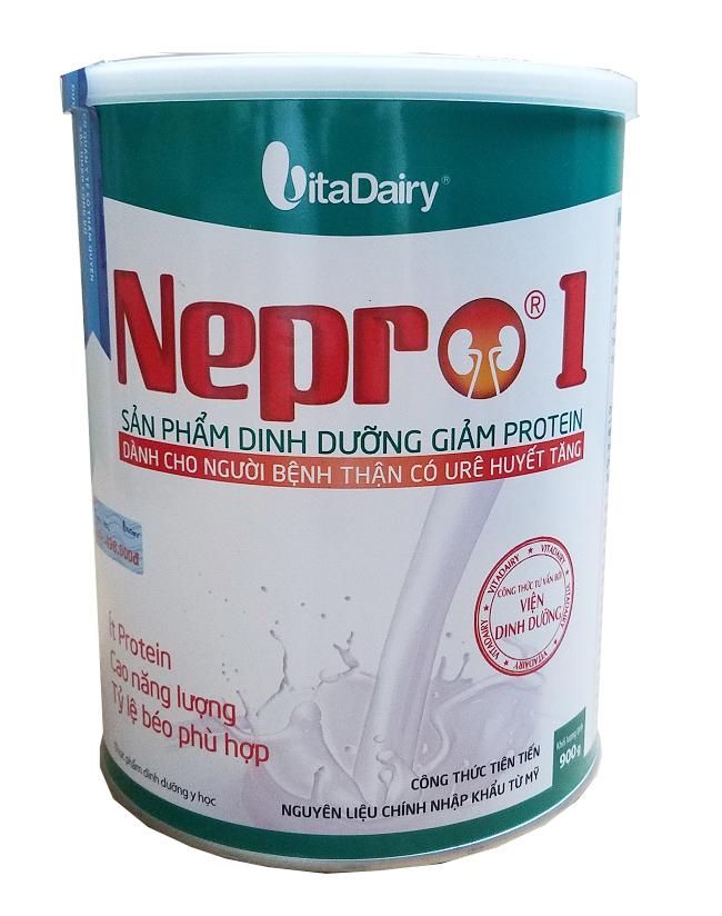 Nepro 1 900 gr : Dinh dưỡng y tế giảm Protein, dùng cho người bệnh thận chưa chạy lọc máu ngoài