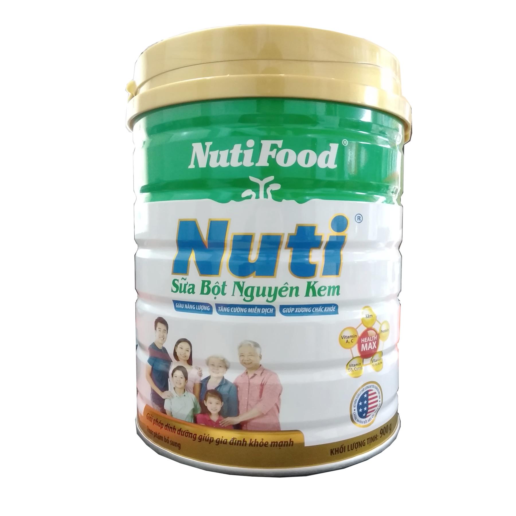 Sữa bột nguyên kem của NutiFood 900 Gr : dinh dưỡng bổ sung hàng ngày cho người trưởng thành