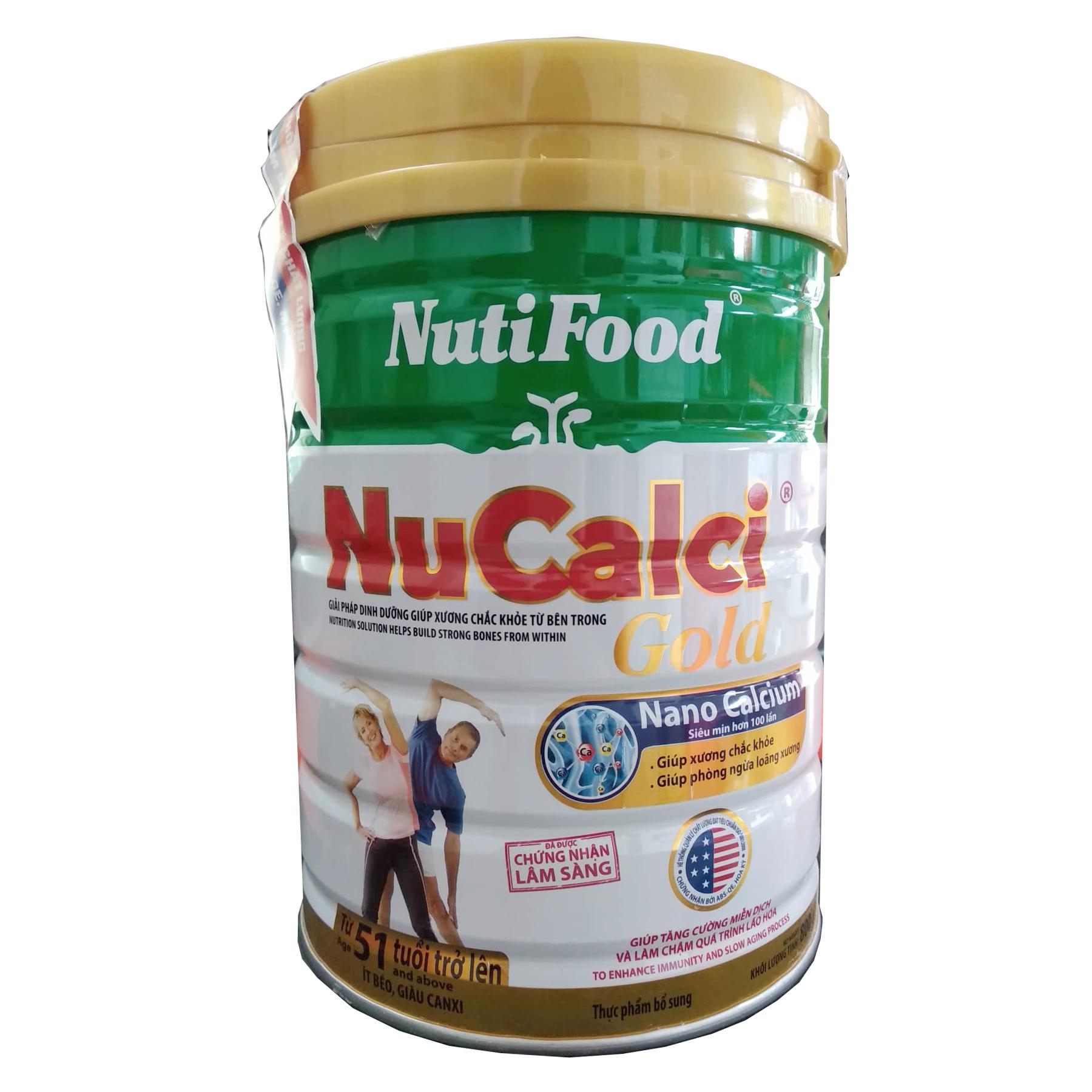 NuCalci Gold 800 Gr : Dinh dưỡng bổ sung canxi cho xương chắc khỏe (cho người từ 51 tuổi trở lên )