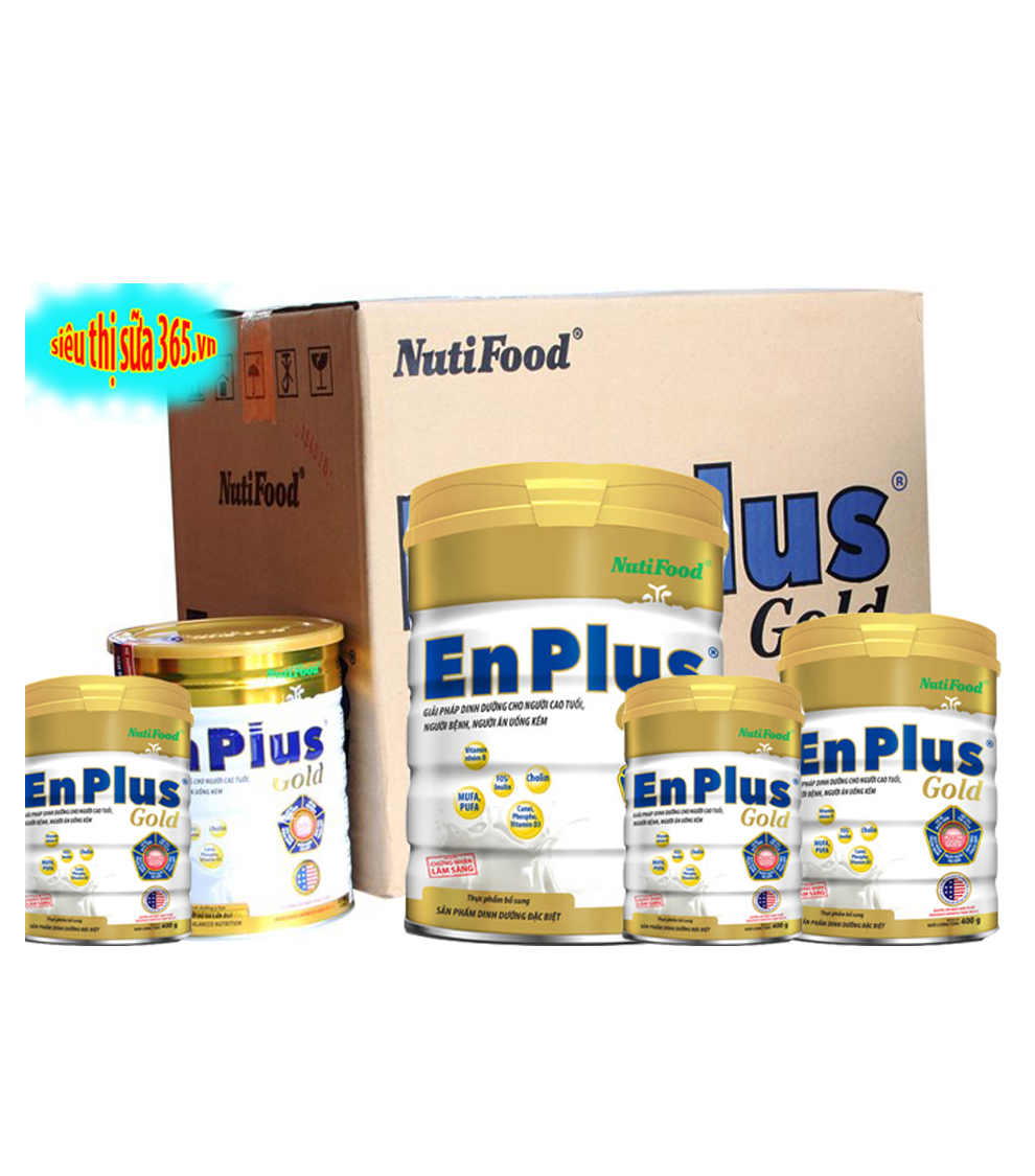 12 Hộp Nuti EnPlug Gold 900 Gr ( 1 thùng ) : Dinh dưỡng cho người trưởng thành