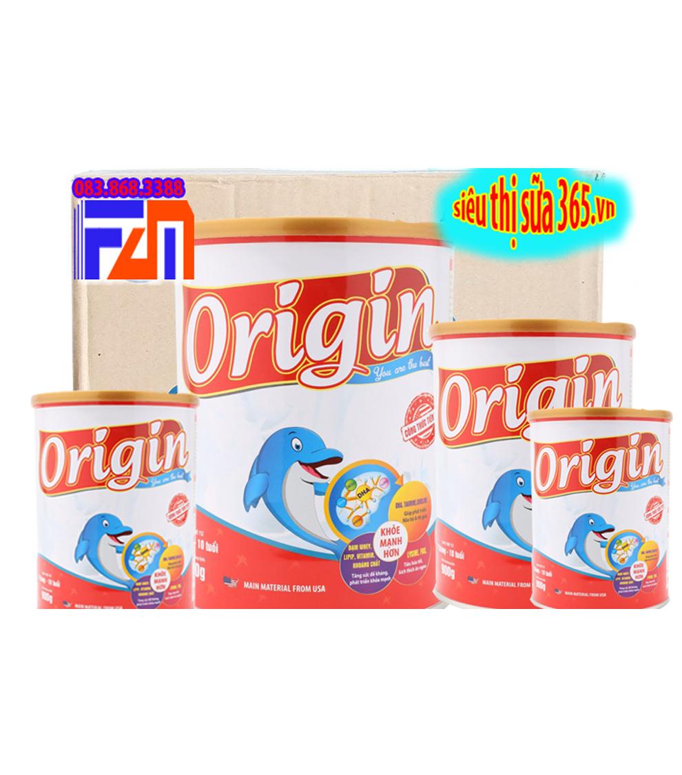 12 Lon ORIGIN 900 Gr ( 1 thùng) : sữa công thức cho trẻ suy dinh dưỡng từ 7 tháng đến 10 tuổi