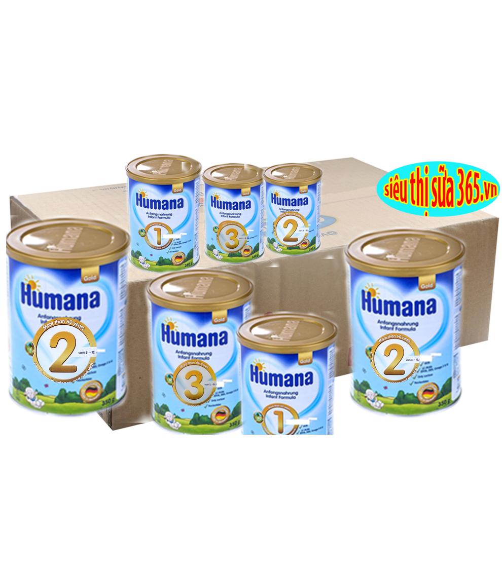 12 Hộp HUMANA Gold 3 800 Gr : sữa tăng trưởng cho trẻ 1- 9 tuổi