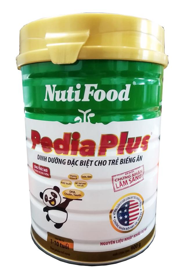 Nutifood Pedia Plus 900 gr : Sữa dành cho trẻ biếng ăn, suy dinh dưỡng từ 1 - 10 tuổi