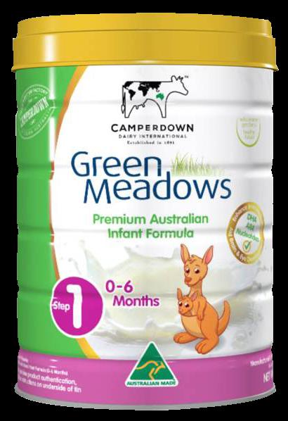 Green Meadows step 1 900 Gr : Sữa tăng trưởng cho trẻ 0 – 6 tháng tuổi
