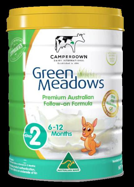 Green Meadows step 2 900 Gr : Sữa tăng trưởng cho trẻ 6 – 12 tháng