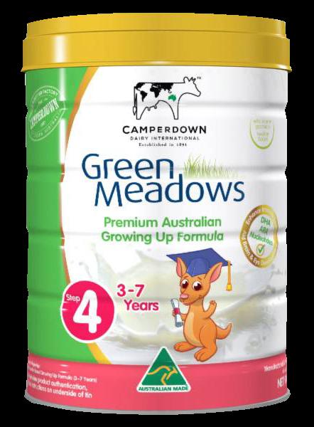 Green Meadows step 4 900 Gr : Sữa tăng trưởng cho trẻ 3 – 7 tuổi