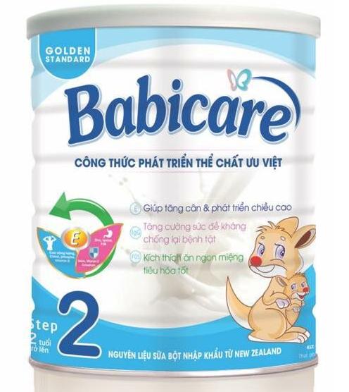 Babicare số 2 700 Gr : Sữa cho trẻ biếng ăn , suy dinh dưỡng từ 2 tuổi trở lên