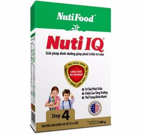 Nuti IQ Step 4 400 gr hộp giấy : sữa tăng cường DHA cho trẻ 2-6 tuổi phát triển trí não, thị giác