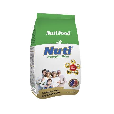 Sữa bột nguyên kem của NutiFood 400 Gr hộp giấy: dinh dưỡng hàng ngày cho mọi người