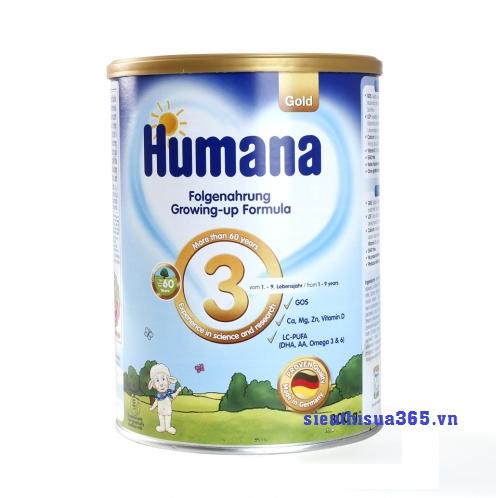 Sữa Humana Gold 3 800 gr : sữa tăng trưởng cho bé từ 1-9 tuổi