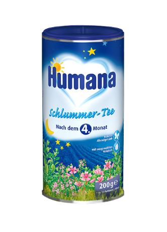 Humana Schlummer -Tee 200 Gr ( Germany ) :Trà thảo dược hòa tan giúp ngủ ngon , cho trẻ từ 6 tháng tuổi