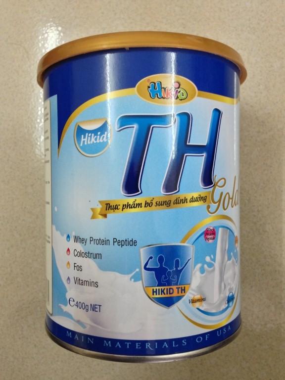 Sữa TH Gold 400 Gr: Sữa công thức cho trẻ từ 06 tháng , có hệ tiêu hóa kém, trẻ kém hấp thu