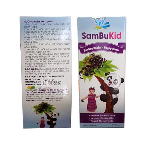 Sambukid : Thực phẩm chức năng hỗ trợ cho bé tăng sức đề kháng , giảm bệnh hô hấp , giúp bé khỏe mạnh