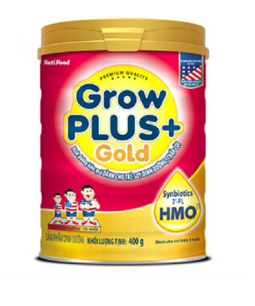 Nutifood GrowPLus+ Gold 900 Gr : sữa đặc trị cho trẻ suy dinh dưỡng thấp còi từ 1 đến 10 tuổi, bổ sung 2-FL HMO