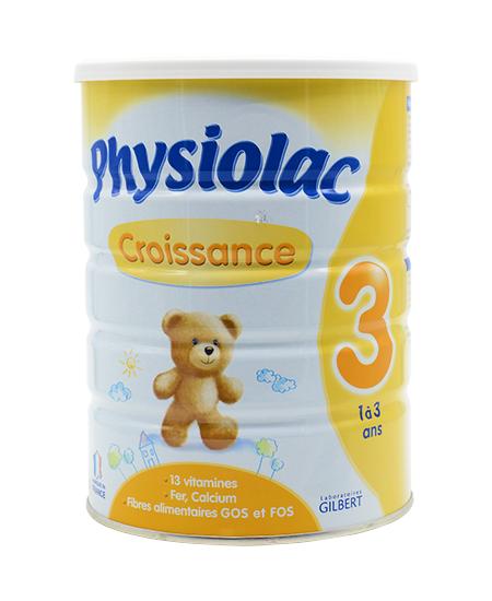 Physiolac 3 900g : sữa tăng trưởng và phát triển cho trẻ từ 1 – 3 tuổi