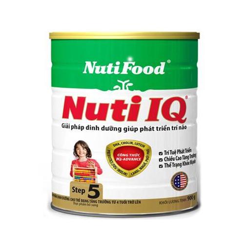 Nuti IQ Step 5 900 Gr : Sữa tăng trưởng , dinh dưỡng cho trẻ từ 4 tuổi , bổ sung DHA