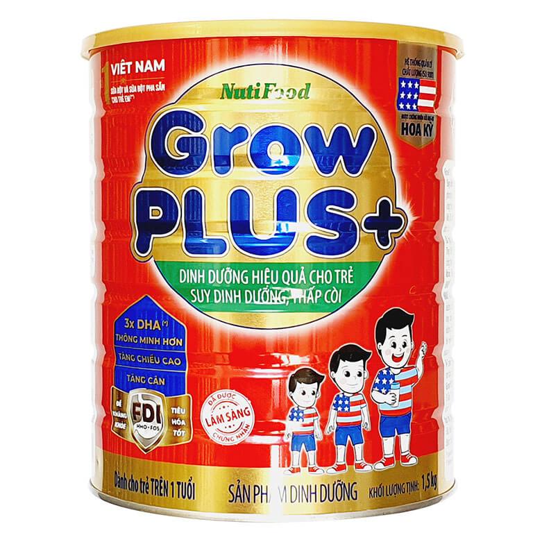 Nutifood GrowPLUS+ Đỏ FDI 1500 Gr : sữa đặc trị cho trẻ từ 1- 10 tuổi bị suy dinh dưỡng thấp còi ( Mẫu mới)