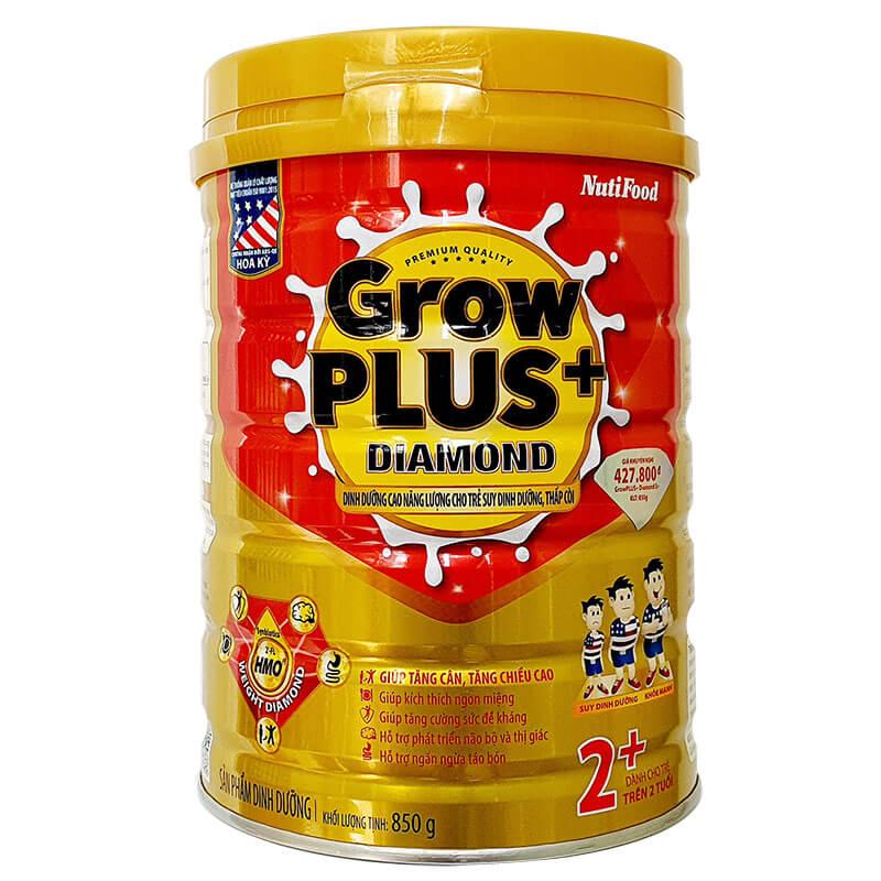 Grow Plus Diamond 2+ 850 Gr : Dinh dưỡng năng lượng cao cho trẻ từ 2 tuổi bị suy dinh dưỡng thấp còi