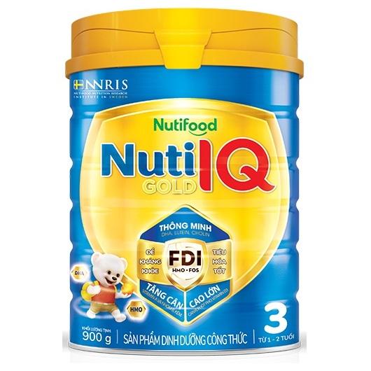 NutiIQ Gold 3 900 Gr: dinh dưỡng tối ưu phát triển trí não, cho trẻ 1-2 tuổi