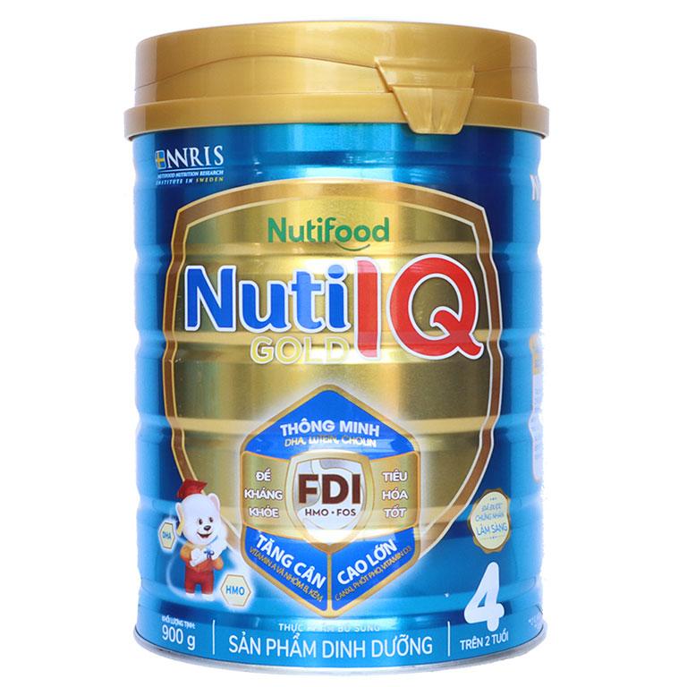 Nuti IQ Gold 4 900 gr : sữa tối ưu phát triển trí não, thị giác cho trẻ từ 2 tuổi trở lên