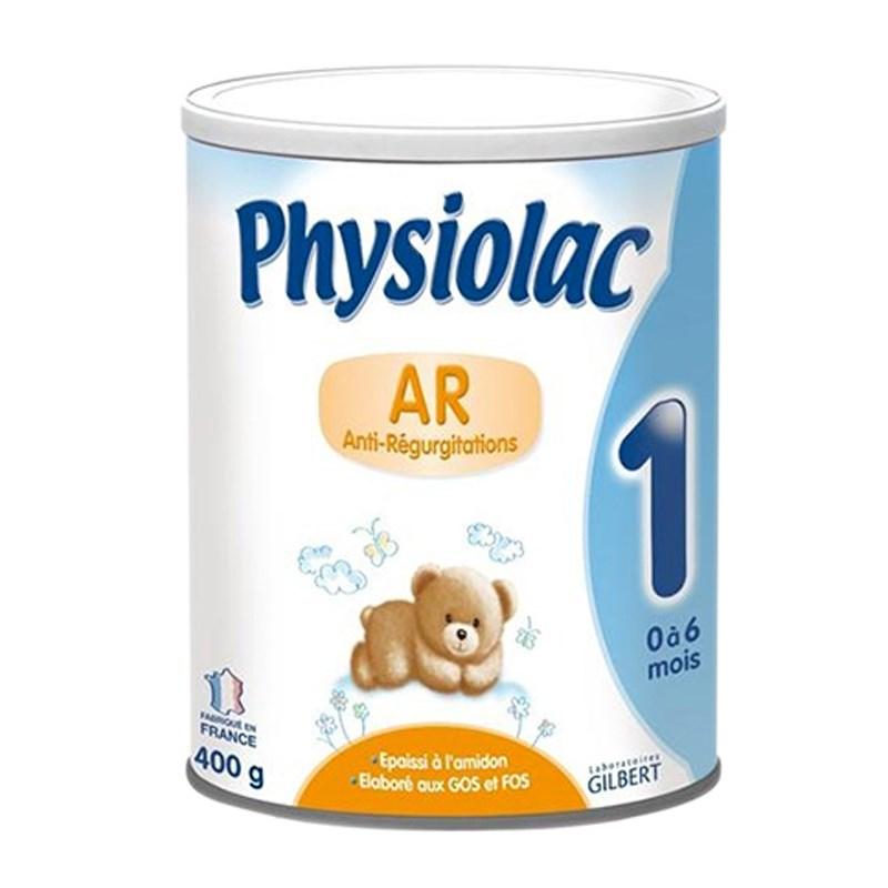 Physiolac AR1 400 Gr : cho trẻ từ 0 -6 tháng tuổi , hay bị nôn trớ , bị đầy bụng , bị khó tiêu