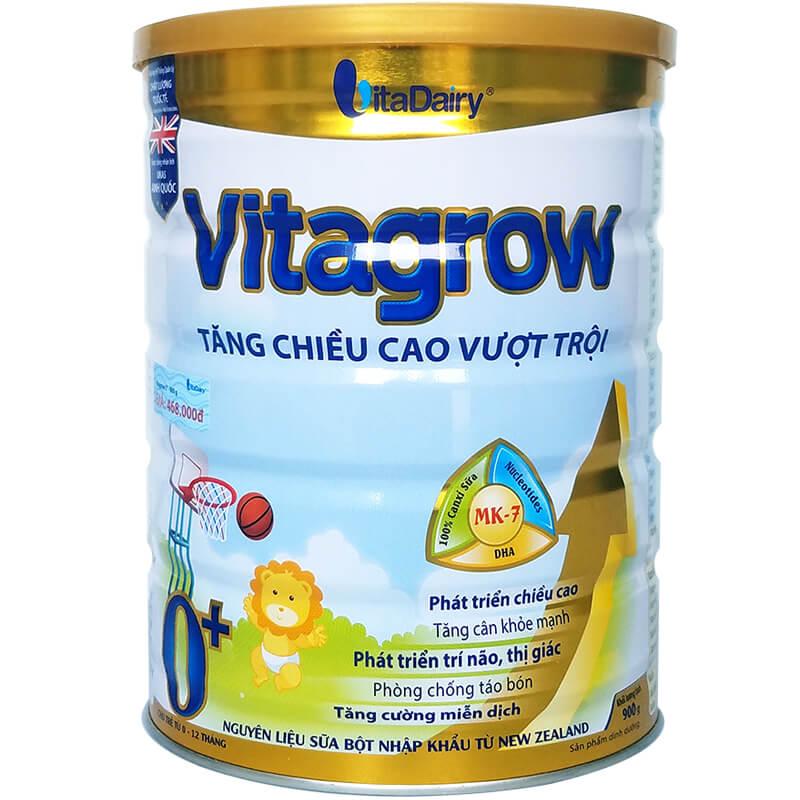 Sữa Vita Grow 0+ 900 Gr: sữa tăng chiều cao tối đa, dùng cho trẻ 0 - 12 tháng tuổi