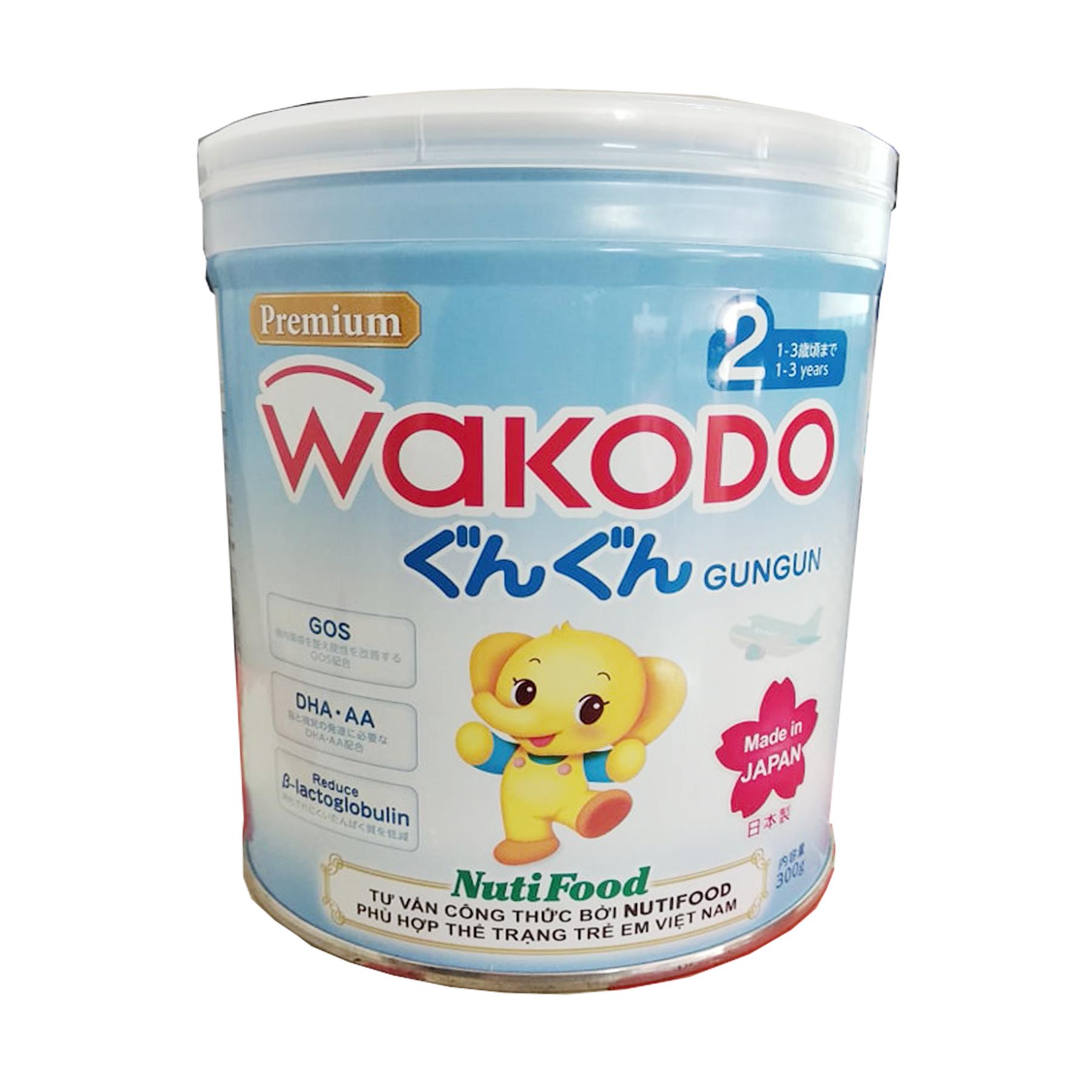 Wakodo GunGun 2 300 Gr ( Made in Japan ) : Sữa tăng trưởng dành cho trẻ từ 1-3 tuổi